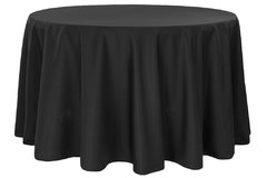 "108"" round black tablecloth"