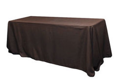 6' Polyester Tablecloth Brown