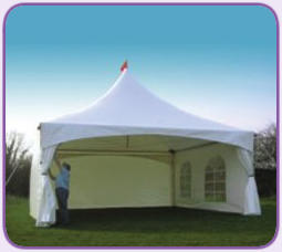 White 20' Marquee Tent Wall - Plain