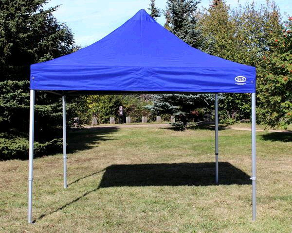 Blue 10' x 10' Aluminum Pop Up Tent