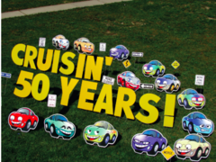 Cars (Cruisin) Yard Card