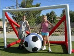 Giant Soccer Nets and Ball