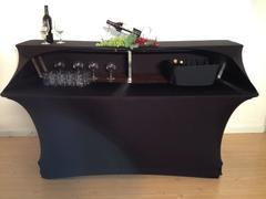 Black Spandex Bar Table Cover