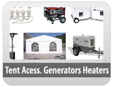 Tent Accessories/Generators/Heaters