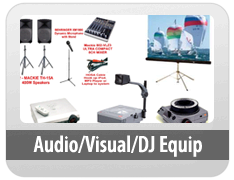 Audio/Visual/DJ Equip
