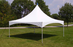 20 x 20 High Peak Frame Tent All White (Installed by Midwest)