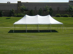 20 x 40 High Peak Pole Canopy All White (Tent Installed by Midwest)