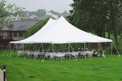 30 x 40 Pole Canopy, All White (Tent Installed by Midwest)