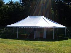 20 x 30 Pole Canopy All White (Tent Installed by Midwest)
