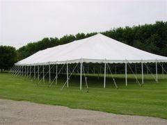 Low Peak 40' x 80' Pole Canopy (Installed by Midwest)