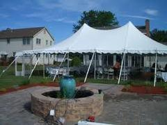 40 x 60 All White Pole Canopy (Tent Installed by Midwest)