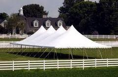 40 x 100 All White Pole Canopy (Tent Installed by Midwest)
