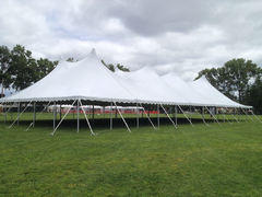 60 x ?? All White Pole Canopy--Call For Pricing