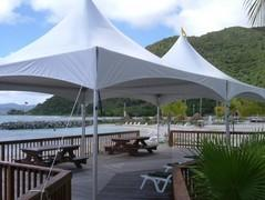 20 x 40 High Peak Frame Tent All White (Installed by Midwest)