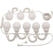 Globe Light Set, 6 White Globes