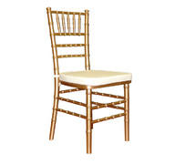 Gold Chiavari Chair with Standard White Cushion