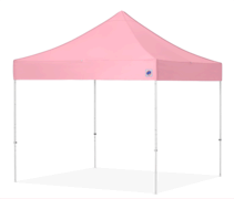 10' x 10' Pink EZ Instant Shelter Canopy (Installed by Midwest)
