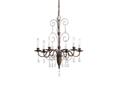Crystal Chandelier (2-4 required per center pole) (Installed by Midwest)