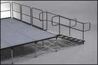 Stage Safety Rail 4' (Installed by Midwest Tents)