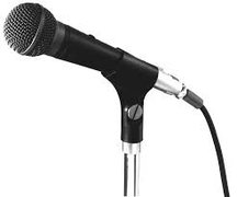 Extra Wired Microphone w/ Stand and 25' Cable for PA System