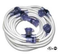 Multi-Outlet Extension Cord, 50' 12ga White