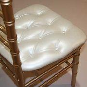 Ivory Tufted Cushion for Chiavari Chairs