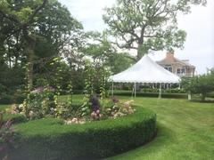40 x 40 All White Pole Canopy (Tent Installed by Midwest)