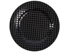 13'' Black Weave Pattern Acrylic Charger