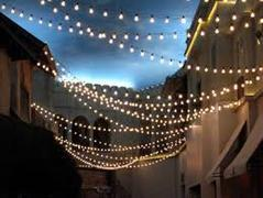 Italian String Lighting for 40' x 120' (Installed)