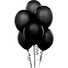 Balloons - Latex     Black