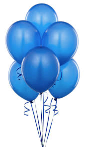 Balloons - Latex     Blue