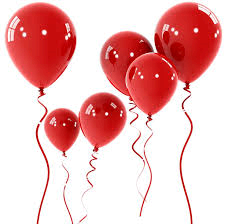 Balloons - Latex     Red