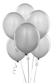 Balloons - Latex     White