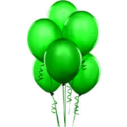 Balloons - Latex     Green