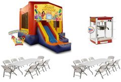 Happy Birthday Slide w/ Tables Chairs & Popcorn