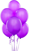 Balloons - Latex     Purple