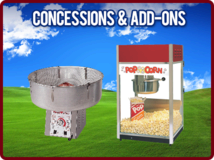 Cotton Candy, Popcorn and other items