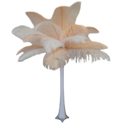 Ivory Feather Centerpieces