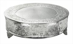 "18"" Silver Cake Stand- Round or Square"