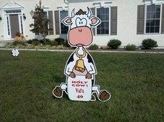 Holy Cow Birthday Sign Lawn Announcement