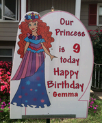 Princess Birthday Sign