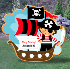 Pirate Ship Birthday Sign
