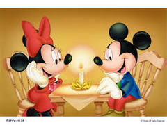 Mickey and Minnie Candle Light Banner