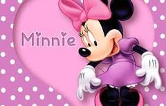 Minnie Mouse and Hearts Banner