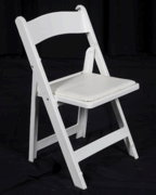 Chairs-White Resin Padded