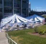 40FT X 40FT Open Ceiling Partial Drape Tent