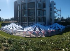 40FT X 50FT Open Ceiling Partial Drape Tent