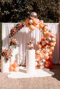 Balloon Ring, Drape, and Cylinders Setup