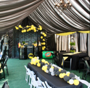 20X30 Black Full Draped Tent