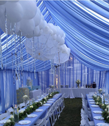 20X20 Dusty Blue Full DRape Tent